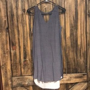 Old Navy Blue Print Tank Shift Dress Size Small